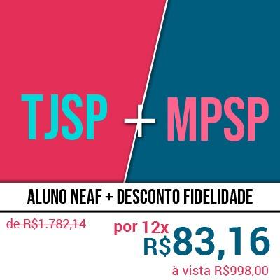 Concurso Escrevente TJSP e Oficial de Promotoria MPSP 2020 - Curso 2 em 1 do NEAF