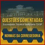 Questões Comentadas para Escrevente TJSP Concurso Vunesp 2020 | Normas da Corregedoria