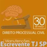 TJ SP Escrevente - Manutenção VUNESP Direito Processual Civil