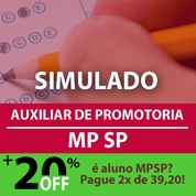 MPSP Auxiliar de Promotoria 2019 | Simulado Online