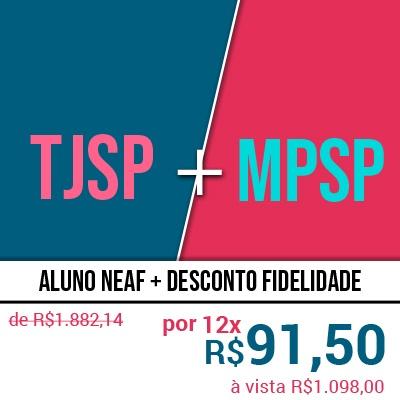 PRESENCIAL - Concurso Escrevente TJSP e Oficial de Promotoria MPSP 2020 - Curso 2 em 1 do NEAF